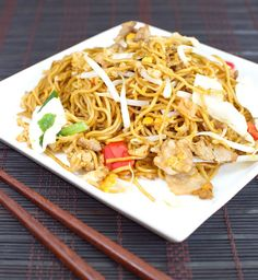 Chinese Recipe: Pork Lo Mein   Perhaps one of my favorite dishes from Chinese takeout is pork lo mein. Unfortunately, so many times when I'v...