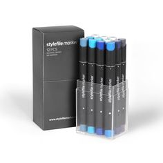 Montana UK - stylefile marker 12 markers Blue Set - Stylefile - MARKERS/MOPS