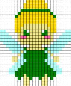 Tinkerbell Perler Bead Pattern / Bead Sprite