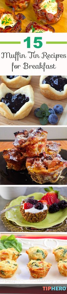 15 Muffin Tin Breakfast Recipes | Mix up your morning with this delicious collection of muffin tin breakfast ideas. From frozen oatmeal bites to bacon-wrapped eggs to Streusel French toast prepare to be inspired! Perfect for brunches. Click to get the recipes.