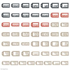 Cricut Days and Dates Garden Of Words, April May, Cricut Fonts, Basic Shapes, Dates, Letters, Date, Letter, Lettering