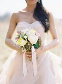 Blush pink wedding dress inspiration