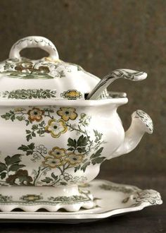 Soup Tureen.  Love the pattern.