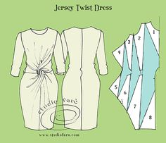 Jersey Twists are the first patterns we make in our Drape Dresses workshop.  Send enquiry request for new dates.
