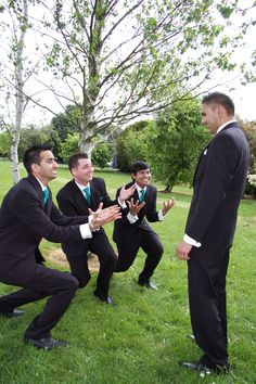 """""""Wedding Photo Fun"""" with Nick & his supporters,Nov.2012 Wedding at Parnassus,Gippsland by Anthony T Reynolds of MOE"""