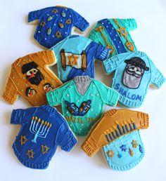 Hazel Tov! Hanukkah starts Dec. 7th. Hanukkah Ugly Sweater Sugar Cookies with by parchmentcookies