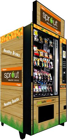 "The fastest growing segment of the multi-billion dollar Vending industry is the growing demand for healthier options in food choices. It's time for a new wave of fresh healthy vending to take the place of hazardous and reckless food choices. Sprout Healthy Vending supplies ""Name Brand"" healthy snacks, drinks, yogurts, smoothies, fresh fruits and vegetables in their state of the art machine."