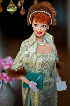 How fun, a Lucille Ball doll! I have to have!  come visit us @ FANCLUBLUCYBALLFANRICARDO@ FACEBOOK.COM
