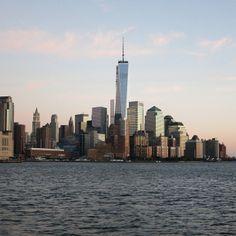 Lower Manhattan over Hudson River