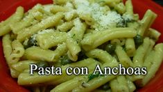 Recetas Caseras Fáciles MG: Pasta con anchoas Pasta Alfredo, Green Beans, Macaroni And Cheese, Side Dishes, Chicken, Meat, Vegetables, Ethnic Recipes, Food