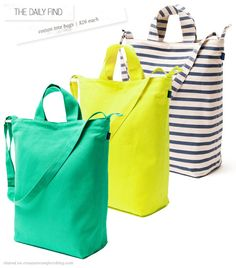 The Daily Find: Recycled Cotton Tote Bags