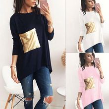Like and Share if you want this  New Style Women T Shirt 2018 Autumn Winter Basic Tops Sequins Patch Pocket Design Long Sleeves O Neck Tees     Tag a friend who would love this!     FREE Shipping Worldwide     Buy one here---> https://ourstoreali.com/products/new-style-women-t-shirt-2018-autumn-winter-basic-tops-sequins-patch-pocket-design-long-sleeves-o-neck-tees/    #aliexpress #onlineshopping #cheapproduct  #womensfashion