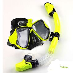 1set diving mask and snorkel fashion gopro scuba diving set silicone diving mask dry snorkel for adult top diving gears
