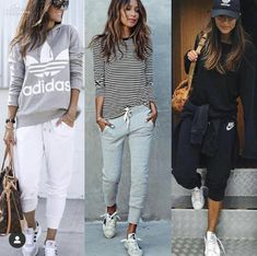 Streetwear Fashion trends and outfits for sale - Sporty Outfits Sporty Chic Outfits, Sporty Style, Mode Outfits, Casual Outfits, Fashion Outfits, Womens Fashion, Runway Fashion, Fashion Trends, Joggers Outfit