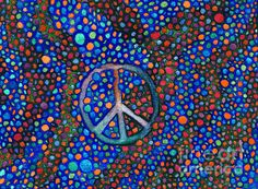 Original Peace Sign water color painting by Janice Dunbar