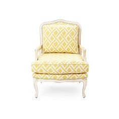 Harper Bergère Yellow Lattice Accent & Occasional Chairs (14.780 NOK) ❤ liked on Polyvore featuring home, furniture, chairs, accent chairs, barclay butera, lattice chair, handcrafted furniture, nailhead accent chair and yellow furniture