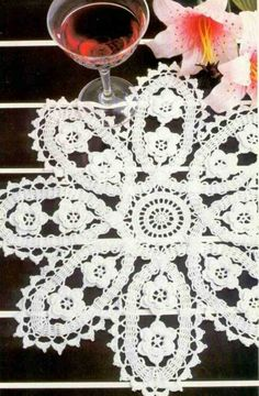 Page 1 of 2  Bruges Lace Doily