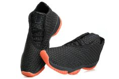 Cheap Nike Air Jordan Future Glow Online Black Orange Men Shoes Hot Sale, Free Shipping