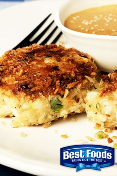 South East Asian Style Crab Cakes using Best Foods Mayonnaise Dressing with Olive Oil.