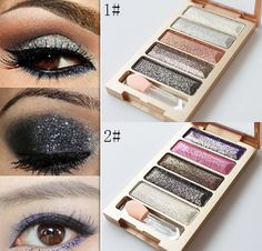 New 5 Color Waterproof Eyeshadow Makeup Eye Shadow Palette Super Flash Diamond Eyeshadow With Brush. Starting at $4