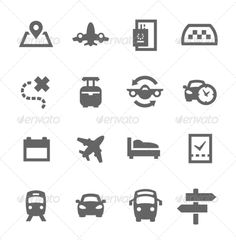 Travel Icons — JPG Image #summer #hotel • Available here → https://graphicriver.net/item/travel-icons/7553008?ref=pxcr
