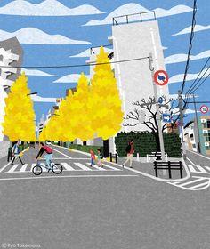 Cover illustration for Quarterly Magazine Musashino, autumn 2015 issue.