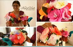 Artificial flower making by my student