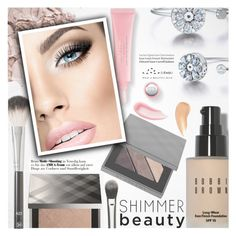 """Shimmer Beauty"" by totwoo ❤ liked on Polyvore featuring beauty, Anastasia Beverly Hills, Smith & Cult, Bobbi Brown Cosmetics, Burberry, Tiffany & Co. and Charlotte Tilbury"
