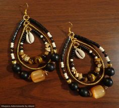 African Party  African Hoop Earrings Bohemian by KheperaAdornments …