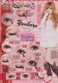Gyaru Hair, Gyaru Makeup, Anime Makeup, Hair Makeup, Cute Makeup, Makeup Looks, Kawaii Makeup, Makeup Inspo, Makeup Inspiration