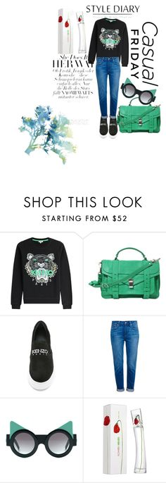 Untitled #25 by soffiekvaliashvili on Polyvore featuring Kenzo, Paige Denim, Proenza Schouler and Kenzo Parfums