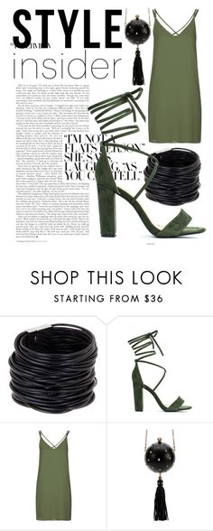 """Green-Black"" by alexia-bahar-karabenli ❤ liked on Polyvore featuring Saachi, Topshop, Alexander McQueen, contestentry, laceupsandals and PVStyleInsiderContest"