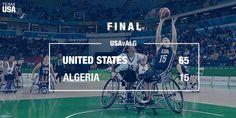 The women's @NWBA team topped Algeria 65-15! 🏀  Way to go, ladies!