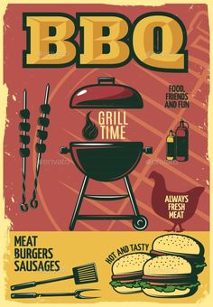 Grill Time BBQ Poster - Food Objects
