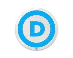 Show your support for Democrats (and take a side!) with this American-made button featuring our new logo. American Made, Politics, Take That, Buttons, Logos, How To Make, Style, Stylus, Logo