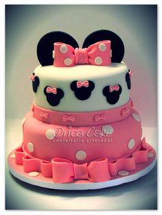 bolos decorados minie rosa - Pesquisa do Google