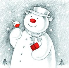 Support Make-A-Wish with this cute Snowman and Robin card Christmas 2014, Christmas Snowman, Charity Christmas Cards, Cute Snowman, Snowmen, Winter Pictures, Make A Wish, Fundraising, Snow Globes