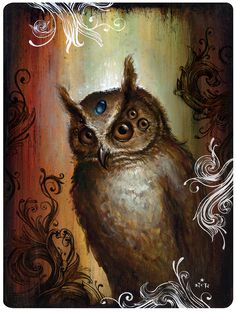 Recently Owl has come to teach me about Dreamtime.  I like this particular image of Owl by N. C. Winters