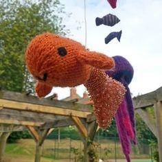 Fantasy Fish Yarnstorm - Carol's Goldfish Community Art, Goldfish, Fundraising, Art Projects, Dinosaur Stuffed Animal, Fantasy, Animals, Design, Animales
