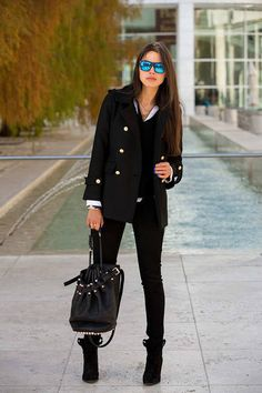 Back to black Zara coat & boots