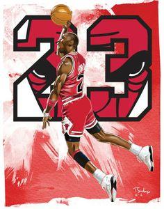 Michael Jordan by Tony Santiago
