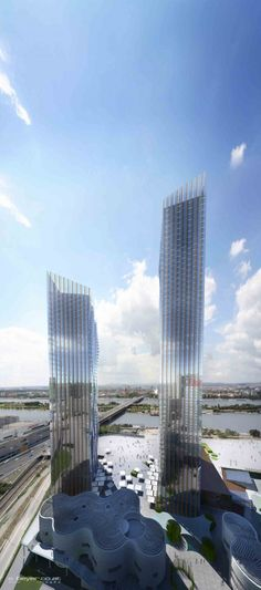 DC Towers I + II, Vienna, Austria by Dominique Perrault Architecture