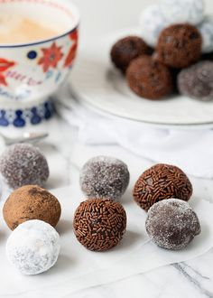 Chocolate Rum Balls from @bakedbree