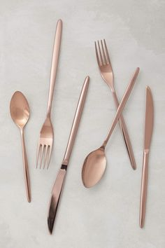 The Best Modern Gold (and Copper!) Flatware | Apartment Therapy