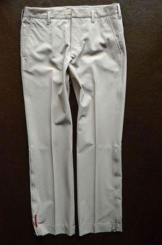 EUC PRADA SPORT AUTH Khaki Techno Fabric Straight Leg Ankle Zip Pant S 46       buy it here:  http://www.ebay.com/itm/280922175416?ssPageName=STRK:MESELX:IT&_trksid=p3984.m1555.l2649#ht_11796wt_981