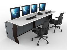 Enfost | Control Room ConsolesRecessed Consoles - Enfost | Control Room Consoles