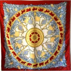 Salvator ferragamo, soie, écharpe, carré, ferragamo, vintage, foulard, silk,  scarf