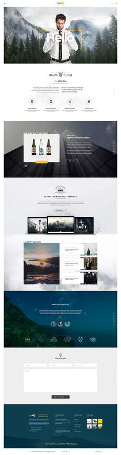 Last40 is Creative PSD Template for multipurpose #website. It comes with 4 stunning homepage layouts. #psdtheme #business