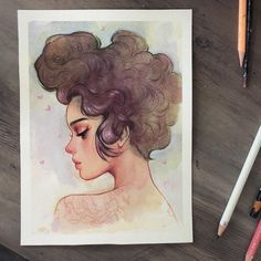 """🍂Kelsey Beckett🍂 on Instagram: """"A little gouache painting 🖤 taking a small break from graphite to let my hand have a rest 😴 #gouache #painting #holbein #prismacolor…"""" Kelsey Beckett, Gouache Painting, Prismacolor, Traditional Art, Portrait, Illustration, Photo And Video, Artist, Graphite"""