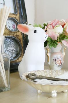 kino diary blog woodland rabbit night light